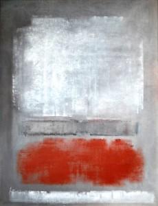 B11 - Nicole Briaux - Composition en rouge et gris - 65x50 Site