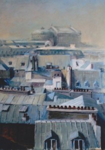 B8 - Jean-Pierre Bisson - Toits de Paris - 60x42 Site