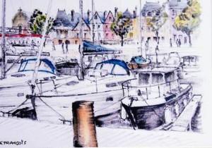 F - Gilbert Francois - Port de Vannes - 65x50