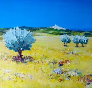 G1 - Jacques Gros Sennen - Paysage de Haute Provence - 55x46 Site