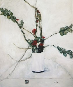 P7 - Papon - Des cognassiers dans un vase blanc - 65x54 Site