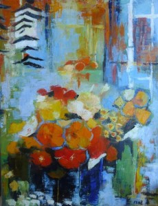 Bettrancourt 2 - Bouquets sur fond bleu(cour Saleya)
