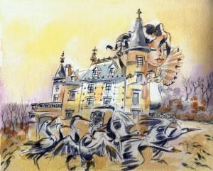 Fauvel 2 - Château-de-la-Belle-au-Bois-Dormant-aquarelle Site