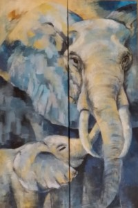 Dhonneur 2 - Elephants - 2x30x90
