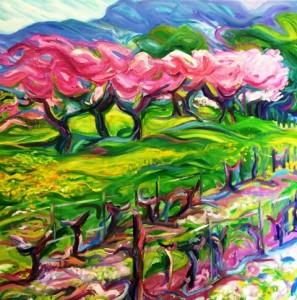 Gaillard Perez 2 - Au printemps - 100x100