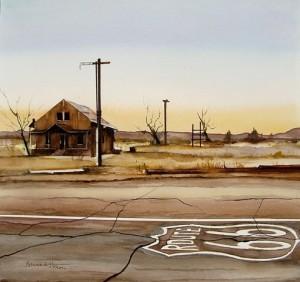 Hénon 1 - Arizona (USA) - la route 66 au petit matinjpg