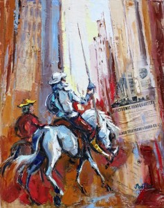 Pastore 2 - Don quichotte à New York - 81x65