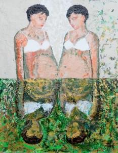 Tandé 2 - Jumelles en reflet - 73x60