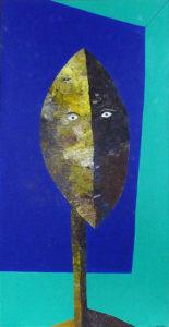 Libert - Dogon sur fond de ciel bleu - h120x61