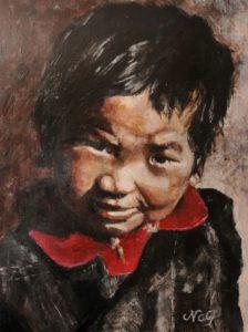 Chauveheid Gaska 2 - Enfant népalais - 116x81 Web