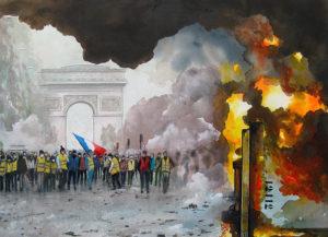 Hénon - Paris - le 24 Novembre 2018 sur les Champs Elysées