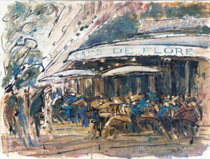 Moussakova 3 - Café de Flore - 46x61